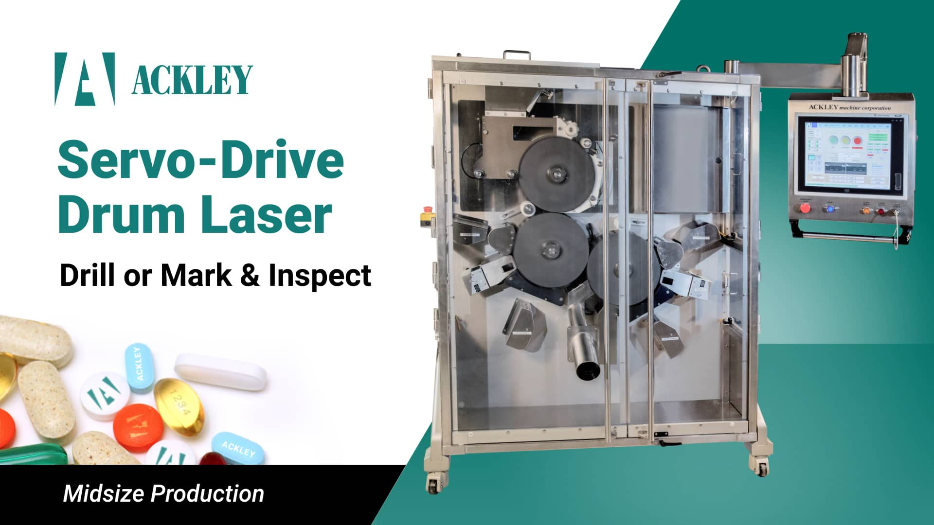 Servo Drum Laser Drill Video